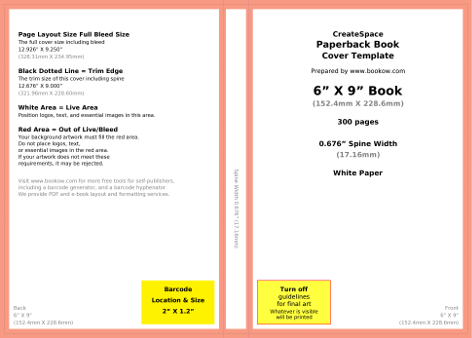 Bookow free resources for Createspace interior templates